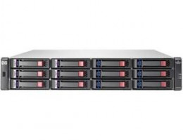 AJ743A StorageWorks 2012fc Dual Controller Modular Smart Array (up to 12x3.5in HDDs, icl 2xCntr (1Gb cache) with 2 LC Connectors, 2x0,6m SAS cable)