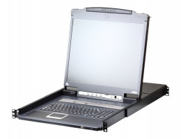 "CL5716M-AT-RG 1U 16-port 17"" Single Rail LCD KVM Swith"